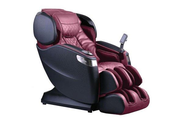 Large image of Cozzia Qi SE Burgundy & Pearl Black Reclining Massage Chair - CZ-710V-9229