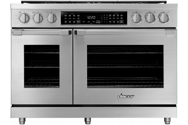"""Large image of Dacor Professional 48"""" Stainless Steel Dual Fuel Liquid Propane Range - HDPR48S/LP"""
