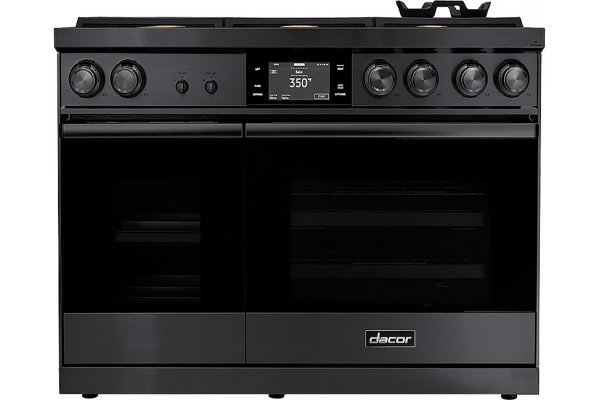 """Large image of Dacor Contemporary 48"""" Graphite Stainless Steel Natural Gas Dual-Fuel Steam Range - DOP48M86DLM"""