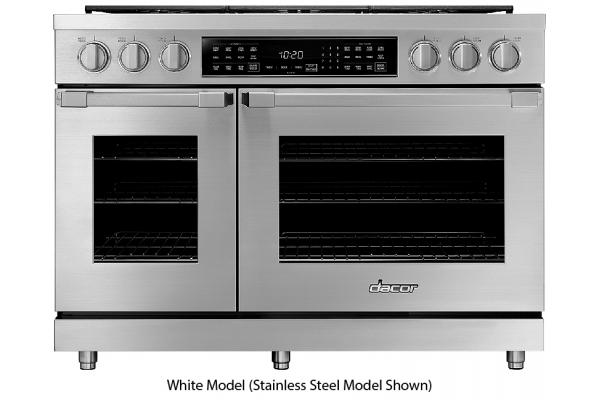 "Large image of Dacor Professional 48"" White Liquid Propane Dual Fuel Pro Range - HDPR48C/LP"