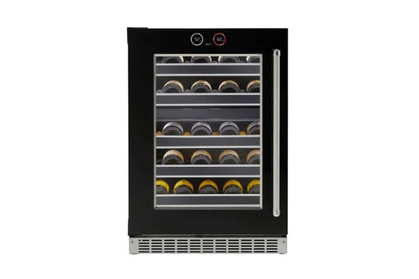 """Large image of Danby Silhouette Reserve 24"""" Black Stainless Steel Frame Left-Hinge Under-Counter Wine Cellar - SRVWC050L"""