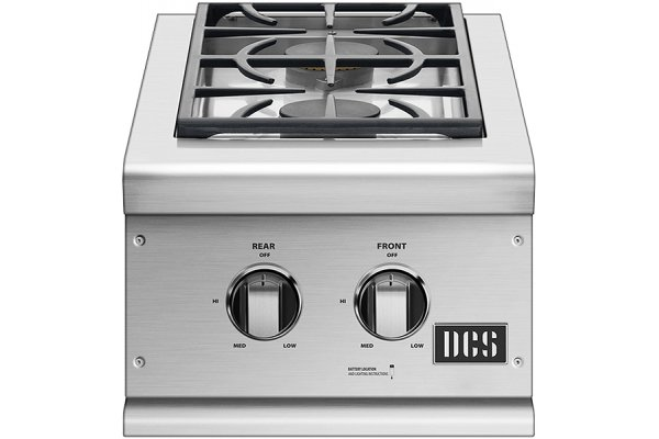 """Large image of DCS 15"""" Built-In Stainless Steel Double Sideburner - BGC132BIN"""