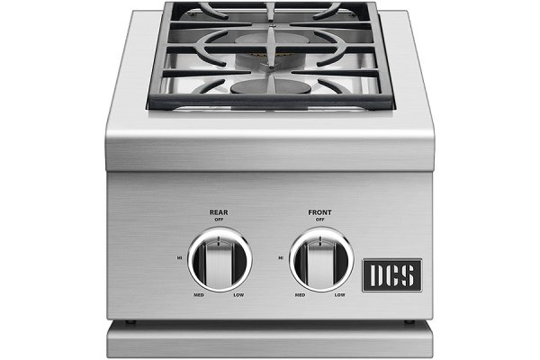 """Large image of DCS 14"""" Built-In Stainless Steel Double Sideburner - SBE1-142-L"""