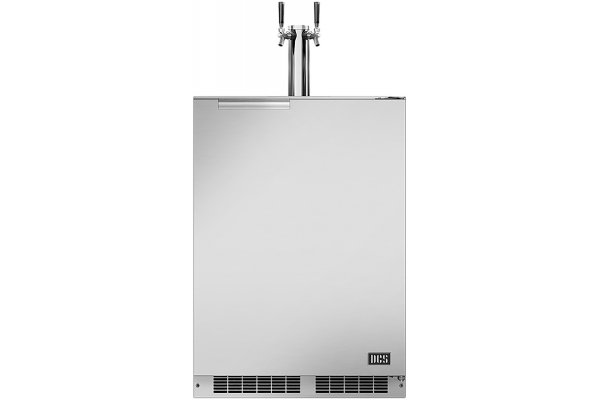 "Large image of DCS 24"" Stainless Steel Right-Hinge Dual Tap Outdoor Beer Dispenser - RF24BTR1"