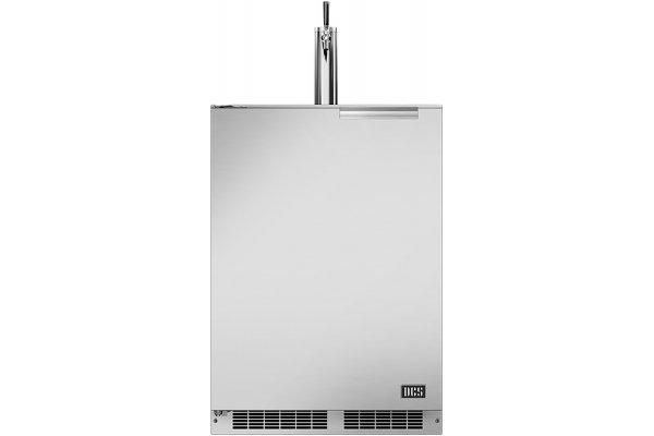"Large image of DCS 24"" Stainless Steel Left-Hinge Single Tap Outdoor Beer Dispenser - RF24TL1"