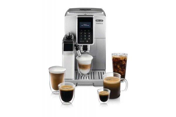 Large image of DeLonghi Dinamica w/ LatteCrema Silver Automatic Coffee & Espresso Machine - ECAM35075SI