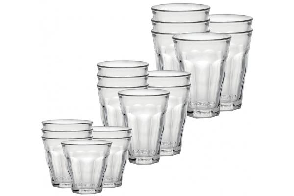 Large image of Duralex Picardie 18 Piece Clear Glassware Set - CC118