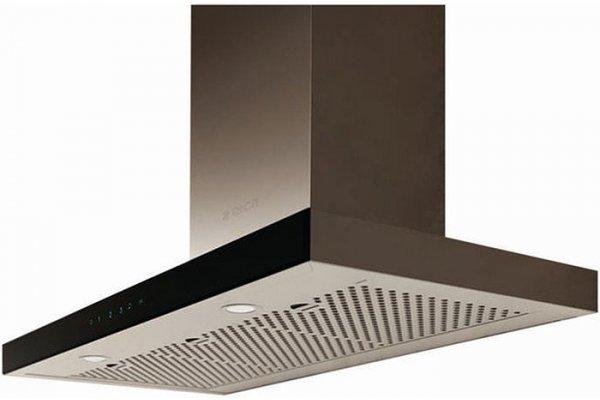 "Large image of Elica Mezzano 30"" Stainless Steel & Black Glass Range Hood - EMZ630S3"