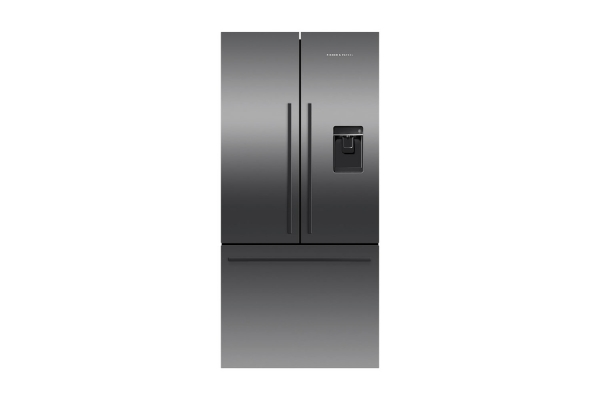 Large image of Fisher & Paykel 17.5 Cu. Ft. Black Stainless Steel Freestanding French Door Refrigerator - RF170ADUSB5