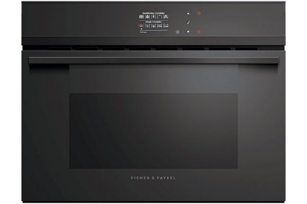 """Large image of Fisher & Paykel Series 9 24"""" Black Combination Steam Oven - OS24NDBB1"""