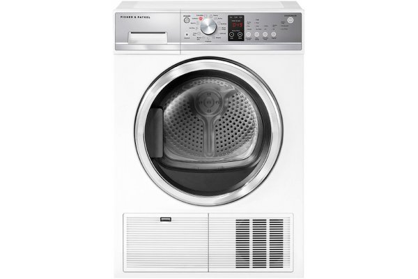 Large image of Fisher & Paykel Series 5 4 Cu. Ft. White Condensing Electric Dryer - DE4024P2