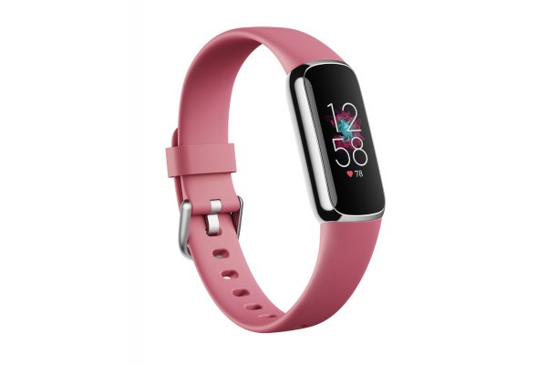 Large image of Fitbit Luxe Orchid/Platinum Stainless Steel Fitness Tracker - FB422SRMG