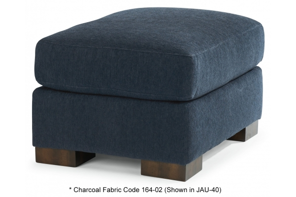 Large image of Flexsteel Bryant Charcoal Fabric Ottoman - 7399-08-164-02-F
