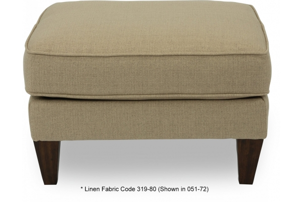 Large image of Flexsteel Digby Linen Fabric Ottoman - 5966-08-319-80-F