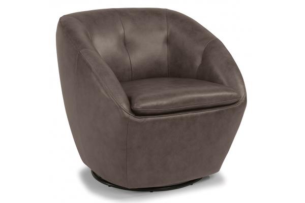 Large image of Flexsteel Wade Grain Leather Swivel Chair - 1855-11-637-72