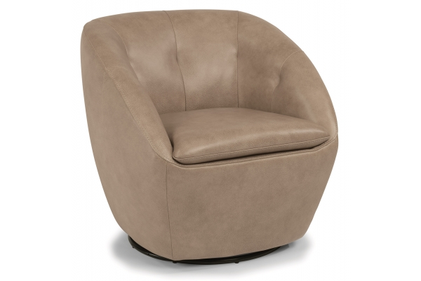 Large image of Flexsteel Wade Leather Swivel Chair - 1855-11-637-80