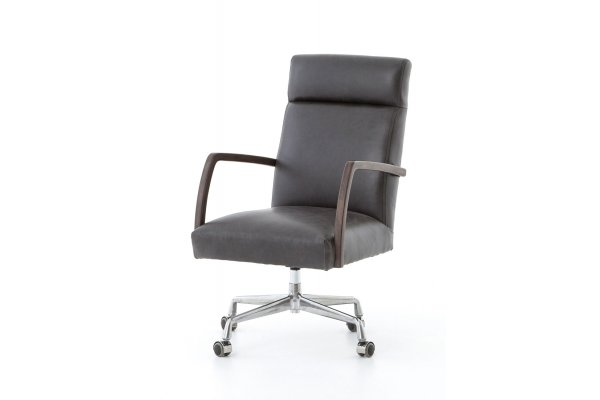 Large image of Four Hands Abbott Collection Bryson Chaps Ebony Chair - 105577-006