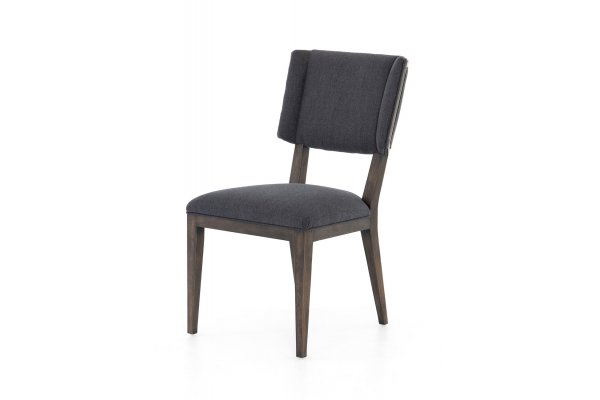 Large image of Four Hands Wells Collection Misty Black Jax Dining Chair - 105586-005