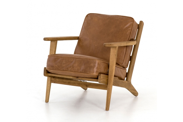 Large image of Four Hands Irondale Collection Palomino Brooks Lounge Chair - 105917-009