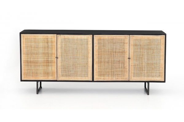 Large image of Four Hands Prescott Collection Carmel Black Wash Sideboard - IPRS-002A