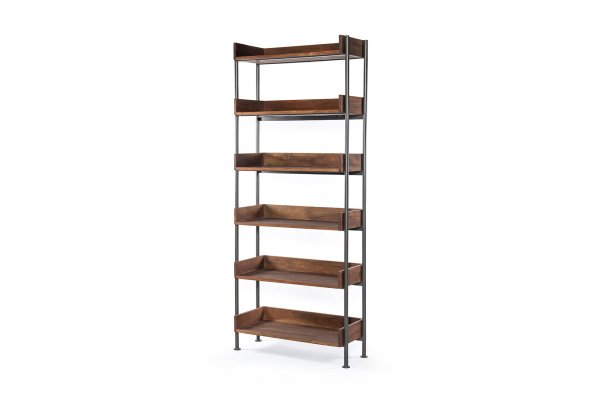 Large image of Four Hands Merritt Collection River Toasted Acacia Bookshelf - IMER-042