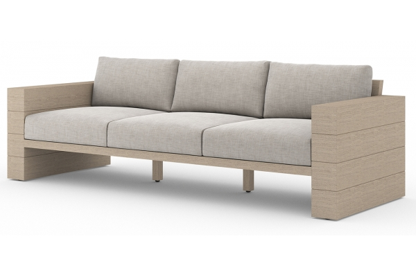 Large image of Four Hands Solano Collection Stone Grey & Washed Brown Leroy Outdoor Sofa - JSOL-08902K-561