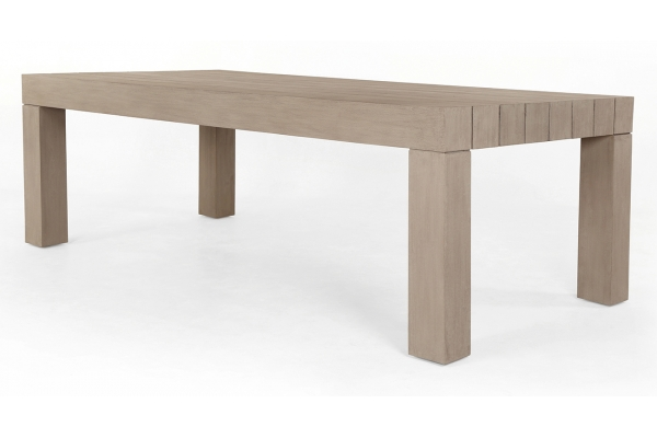 Large image of Four Hands Solano Collection Washed Brown Sonora Outdoor Dining Table - JSOL-055A