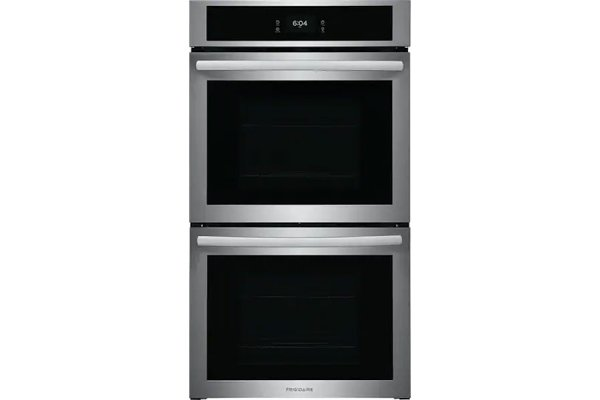 """Large image of Frigidaire 27"""" Stainless Steel Double Electric Wall Oven With Fan Convection - FCWD2727AS"""