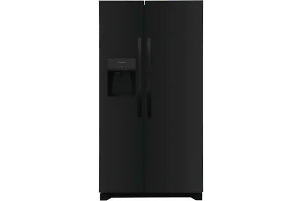 Large image of Frigidaire 25.6 Cu. Ft. Black Side-By-Side Refrigerator - FRSS2623AB