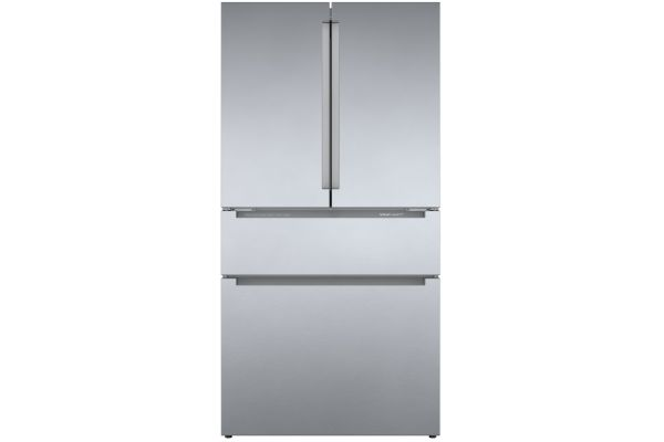 """Large image of Bosch 800 Series 36"""" Stainless Steel Counter-Depth 4-Door Refrigerator - B36CL80ENS"""