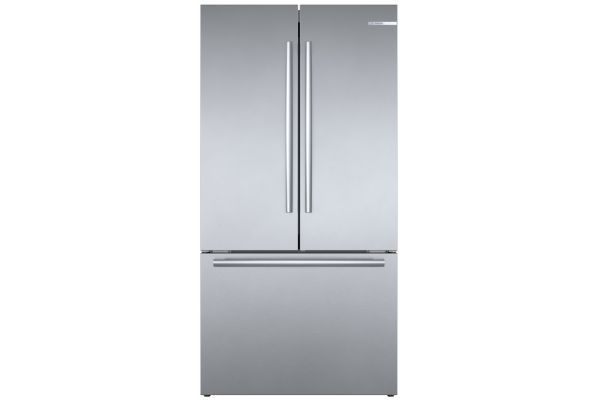 """Large image of Bosch 800 Series 36"""" Stainless Steel Counter-Depth 3-Door Refrigerator - B36CT80SNS"""