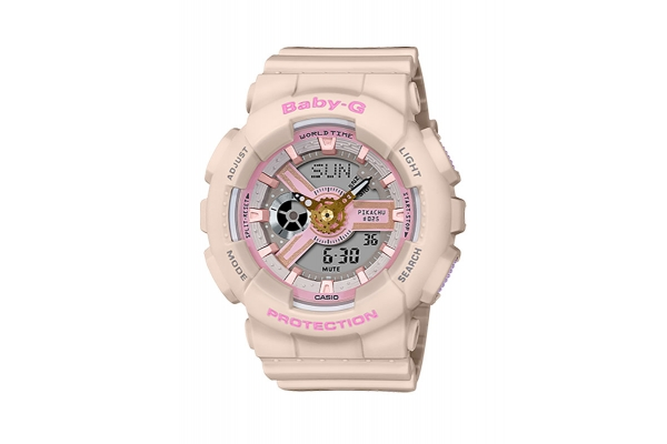 Large image of G-Shock Baby-G Pokemon Series Pink Case & Grey Dial Womens Watch - BA110PKC-4A