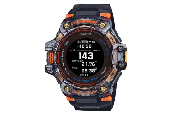 Large image of G-Shock G-Move Black/Orange Digital Mens Watch With Heart Rate Monitor - GBDH1000-1A4