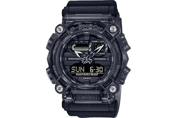 Large image of G-Shock Transparent Gray Dial Resin Watch - GA900SKE-8A