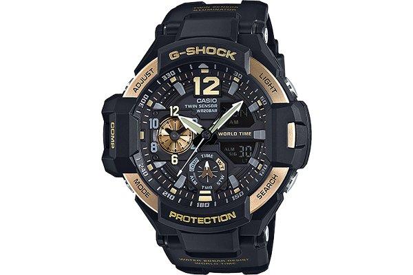Large image of G-Shock Gravitymaster Black Dial Watch - GA1100-9G