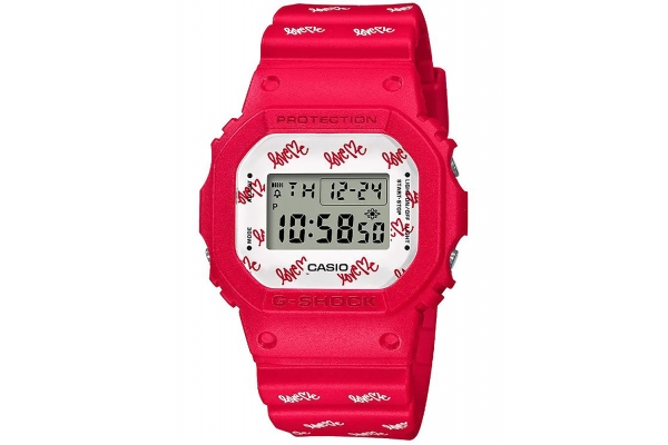 Large image of G-Shock Limited Edition Love Me Kurtis Kulig Womens Watch - DW5600LH-4