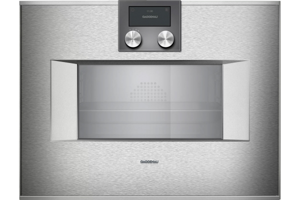 """Large image of Gaggenau 24"""" Stainless Steel 400 Series Combi-Steam Oven - BS470612"""