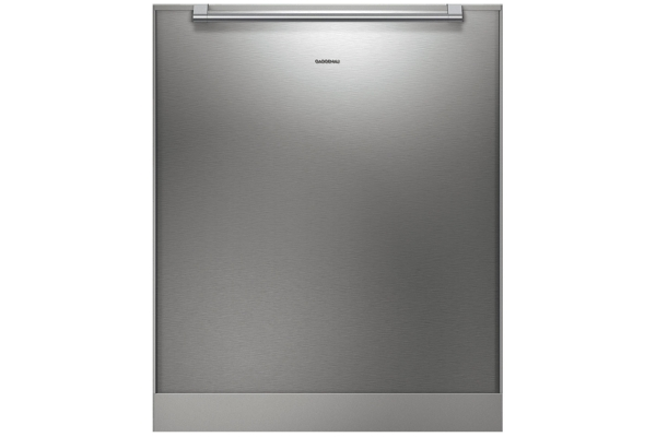Large image of Gaggenau Stainless Steel-Backed Full Glass Tall Tub Dishwasher Door Panel - DA231110
