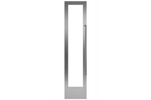 "Large image of Gaggenau 18"" Stainless Steel Door Panel Frame With Handle, Left Hinge - RA421116"
