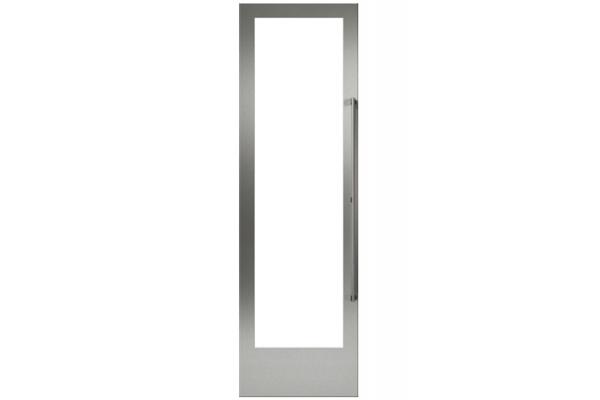 "Large image of Gaggenau 24"" Stainless Steel Door Panel Frame With Handle, Left Hinge - RA421616"