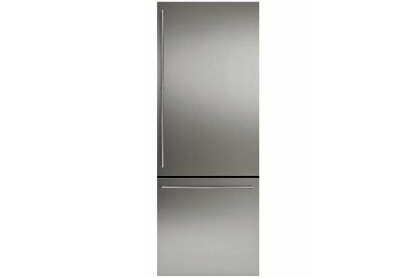 "Large image of Gaggenau 30"" Stainless Steel Bottom Freezer Door Panel Set With Handles - RA421715"
