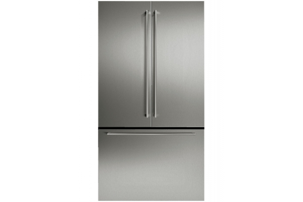 """Large image of Gaggenau 36"""" Stainless Steel French Door Panel Set With Handles - RA421915"""