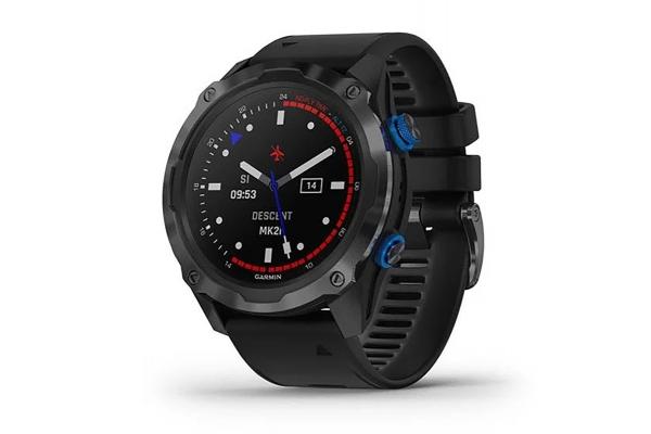 Large image of Garmin Descent Mk2i Titanium Carbon Gray DLC With Black Band Smartwatch - 010-02132-01