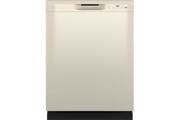 """Large image of GE 24"""" Bisque Dishwasher With Front Controls - GDF535PGRCC"""