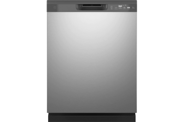 """Large image of GE 24"""" Stainless Steel Dishwasher With Front Controls - GDF535PSRSS"""
