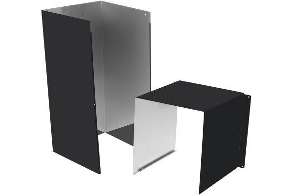 Large image of GE 10' Matte Black Duct Cover Extension - CX10DC9SPDS