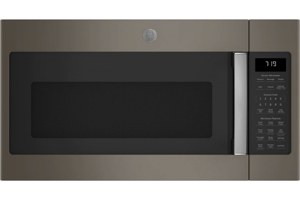 Large image of GE Fingerprint Resistant Slate Over-The-Range Sensor Microwave Oven - JVM7195EKES