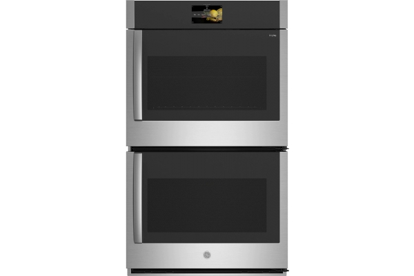 """Large image of GE Profile 30"""" Stainless Steel Smart Built-In Convection Double Wall Oven With Right-Hand Side-Swing Doors - PTD700RSNSS"""