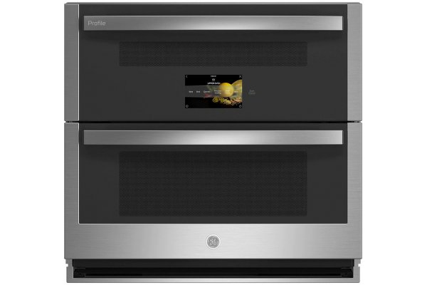 """Large image of GE Profile 30"""" Stainless Steel Smart Built-In Twin Flex Convection Wall Oven - PTS9200SNSS"""