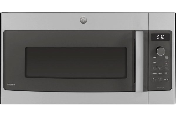 Large image of GE Profile Series 1.7 Cu. Ft. Stainless Steel Over-The-Range Microwave With Advantium Technology - PSA9120SPSS